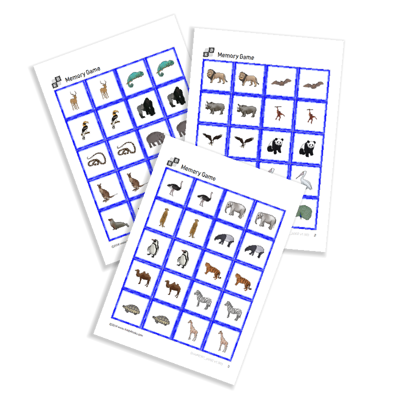 Memory Game - Zoo Animals